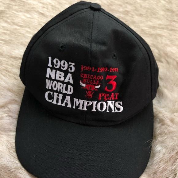 2f995c131235c Chicago Bulls 1993 NBA Champion 3 Peat SnapBack